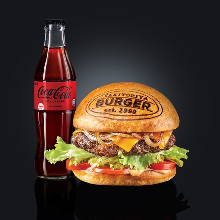 Бургер Нью-Йорк + Coca-Cola Zero