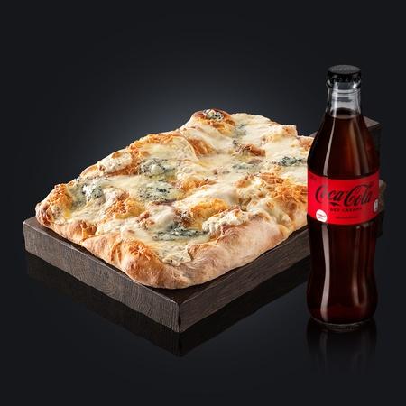 Четыре сыра + Coca-Cola Zero